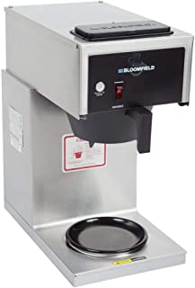Bloomfield 8542-D1 Koffee King Coffee Brewer, Low Profile, Pour-Over Option, Single, 1-Warmer, Stainless Steel, 14