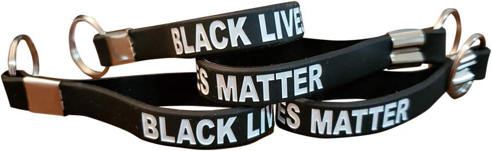 Black Lives Matter BLM Keyring Keychain Awareness Support (1)