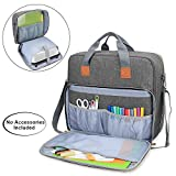 Luxja Carrying Bag Compatible with Cricut Easy Press 2 (12 inches x 10 inches), Storage Case Compatible with Cricut Easy Press 2 and Accessories (Bag Only), Gray case tab Dec, 2020