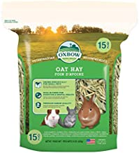 Oxbow Animal Health Oat Hay - All Natural Hay for Rabbits, Guinea Pigs, Chinchillas, Hamsters & Gerbils - 15 oz.