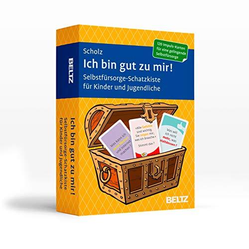 Ich bin gut zu mir!: Selbstfürsorge-Schatzkiste für Kinder und Jugendliche. 120 Karten mit 20-seitigem Booklet in stabiler Box, Kartenformat 5,9 x 9,2 cm (Beltz Therapiekarten)
