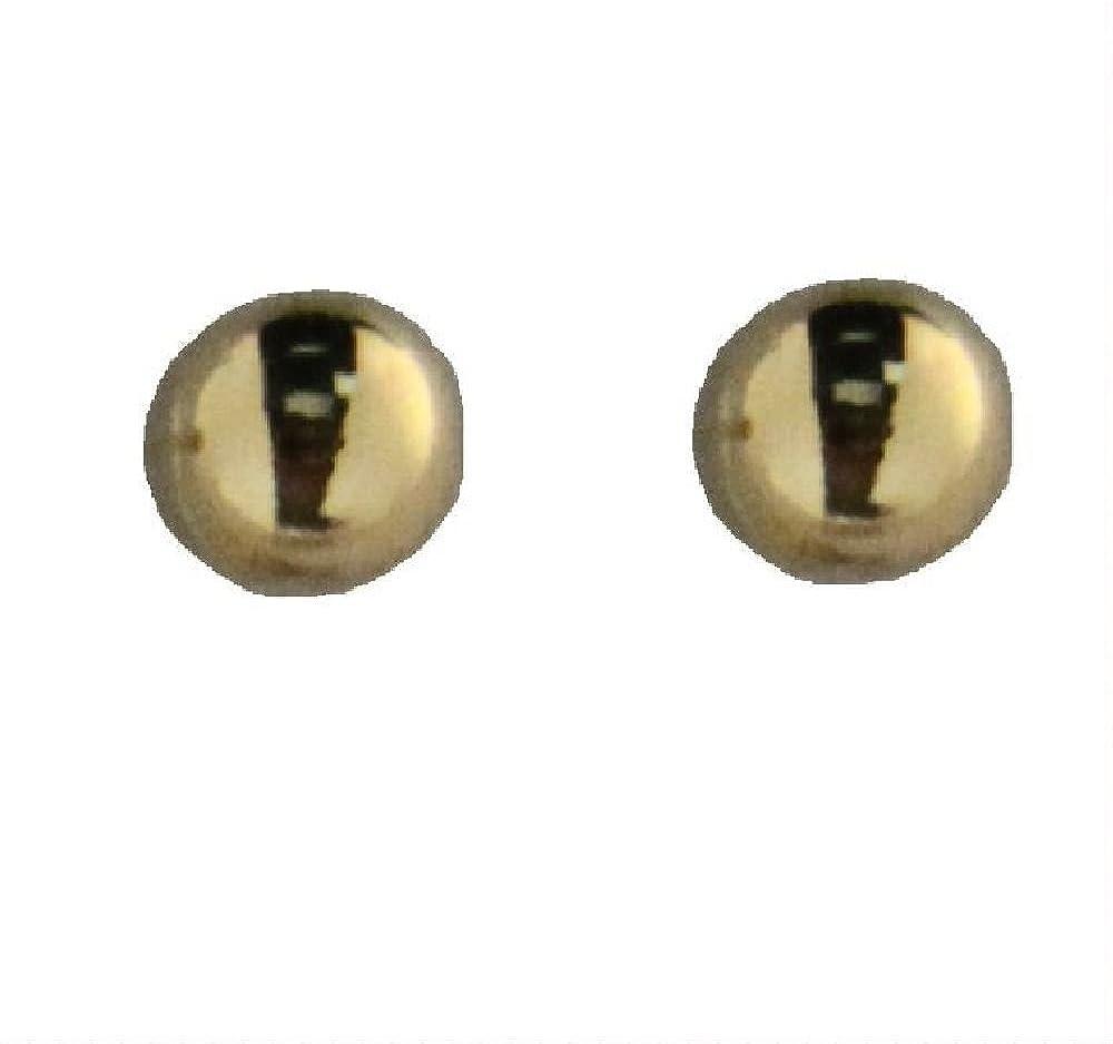 18K Yellow Gold 7 mm Ball Post earrings