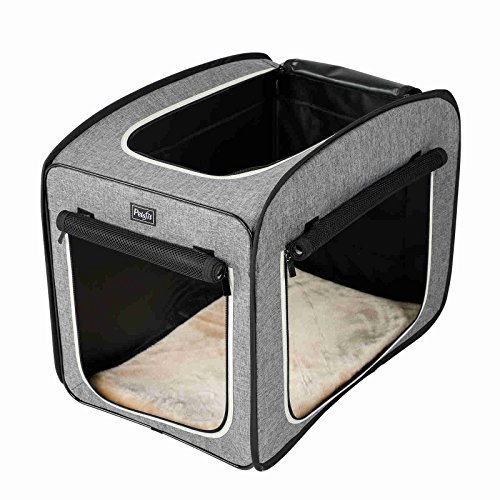 """Petsfit Portable Pop Open Cat Kennel,Cat Cage,Dog Kennel,Cat Play Cube,Lightweight Pet Kennel 31"""" Lx20 Wx25 H Kennels"""