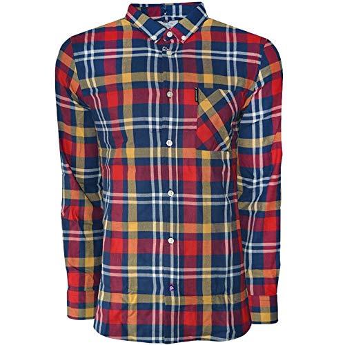 Lambretta Herren-Hemd, langärmelig, Knopfleiste vorne, kariert -  -  XX-Large