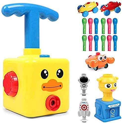 Juguete para coche con globo de energía inercial, juguete lanzador de globos para coche, coche con globo aerostático, kit de experimentos científicos para niños, juguete para regalo de niños (A)