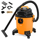 KUPPET 3-in-1 Wet/Dry Vacuum Cleaner, Shop Vacuum with Attachments, 5 Gallon, 5.5 Peak HP, 16Kpa Powerful Suction, 20L Capacity (Orange)