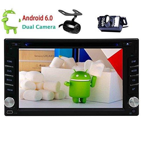 eincar Pure Android 6.0Auto DVD Player Double DIN 15,7cm Auto Stereo mit Touchscreen in Dash GPS Navigation Auto Multimedia Radio Empfänger Unterstützt bluetooth/WiFi/OBD2/mirror-link mit Dual-Kamera