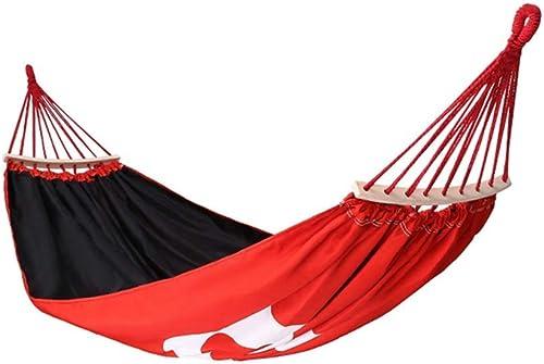 Wghz Outfitters Hammock Camping Double \u0026 Single avec Sangles d'arbres Intérieur Randonnée en Plein air Survie \u0026 Voyage, portable (Couleur  Rouge, Taille  150  190CM)
