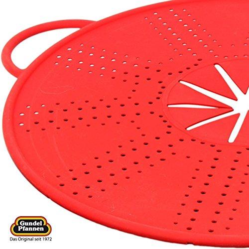Spritzschutz aus Silikon, 33 cm in zwei Farben - rot