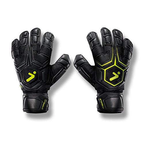 Storelli Gladiator Pro 2 Goalkeeper Gloves |High Perfomance Soccer  Goalkeeper  Gloves |Highest Grade German Latex |Sweat-Wicking|Black -  Storelli Sports, LLC, G2SPRO9