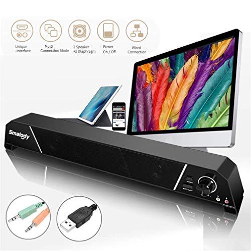 MIEMIE Multimedia Lautsprechersystem, Soundbars Für TV Mit Subwoofer Panasonic HiFi Sound 8W Leistungsstarke Stereo 3,5 Mm Klinkenbuchse Für TV PS4 Smartphone Desktop Und Laptop