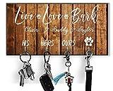 Personalized Key Holder Dog Leash Hanger for Wall Dog Lovers Gift Wall Key Rack Dog Lead Hook Housewarming Gift Wedding Gift Organizer hallway