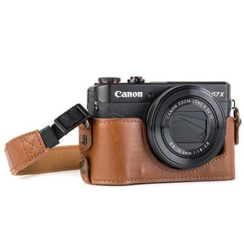 MegaGear MG953 Estuche para cámara fotográfica - Funda (Funda, Canon, PowerShot G7 X Mark II, Marrón)