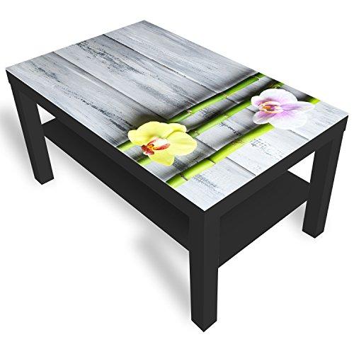 Ikea Bambuss Table basse en verre avec plateau en verre