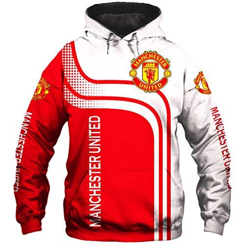 Männer Hoodies Jacke Zum Manchester-United 3D Drucken Fußball-Verein-Fan Pullover/Zip Sweatshirts Tops Teen / A1 / M