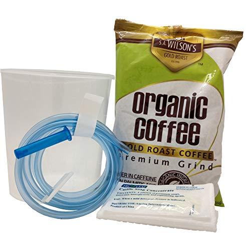S.A. Wilson's Organic Enema Starter Kit Coffee Gold Roast Enema – Colonic Cleanse – Colon Hydrotherapy – Full body cleanse – Kit de Cafe organico para enemas - 100% USDA Certified Organic (1 lb)