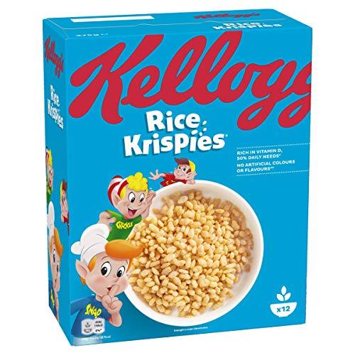 Kellogg's Rice Krispies Céréales Riz Soufflés Nature 375 g