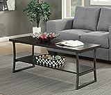 Convenience Concepts X-Calibur Coffee Table, Espresso / Slate Gray Frame