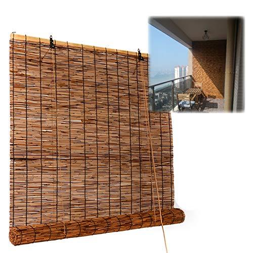 L-DREAM Persianas Enrollables Cortina De Bambú para Interiores Ventanas, Persiana De Caña - para Cocina Y Despensa, Hogar Decor, Sombra/Privacidad, Toldo Vertical Exterior