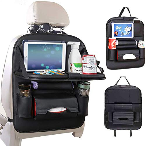 Jiadi Si Car Seat Protector + Backseat Organizer, Table Tray, Foldable Dining Table with iPad and...