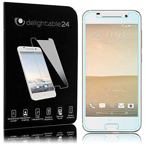 NALIA Schutzglas kompatibel mit HTC One A9, 9H Glas-Schutzfolie Bildschirm-Abdeckung Hüllen-Kompatibel, Handy-Folie Schutz-Film Glasfolie, Smart-Phone HD Screen Protector Tempered Glass - Transparent