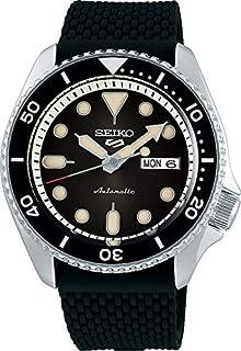 SRPD73K2 سيكو 5 فيس ليفت، مقاومة للماء 10 بار، تقويم، ميناء أسود، ساعة رجالي