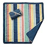 JJ Cole Outdoor Blanket, Peruvian Stripe, 5' x 5'