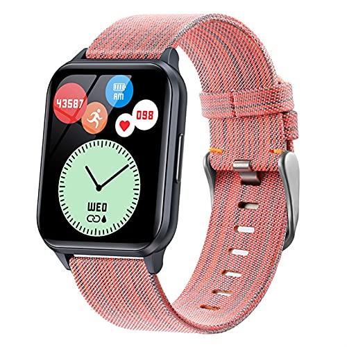 Smart Watch For Hombres Y Mujeres,1.75' Bricolaje Reloj Face Fitness Tracker,IP68 Reloj De Fitness Impermeable con Ritmo Cardíaco Y Monitor De Sueño,Calorie Step Counter Activity Tracker (Color : D)
