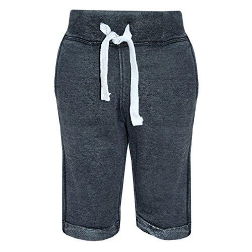 A2Z 4 Kids® Jungen Shorts Kurze Hose Kinder Vlies - Boys Fleece Shorts Black 9-10