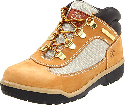 Timberland Leather and Fabric Field Boot (Toddler/Little Kid/Big Kid),Wheat,7 M US Big Kid
