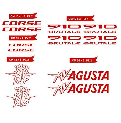 Aufkleber stickers MV AGUSTA MVAGUSTA 910 BRUTALE -Motorrad- Cod. 0583 (Rosso cod. 031)
