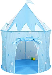 JXXDDQ Children's Tent Indoor Princess Girl Fence Ball Pool Folding Game House Castle Indian Tent Baby Toy (Color : Prince)