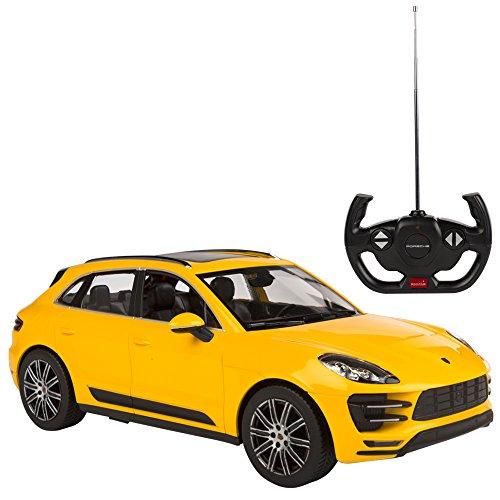 Rastar - Coche teledirigido 1:14 - Porsche Macan amarillo (7