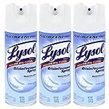 Lysol Disinfectant Spray, Crisp Linen, 12.50 Ounce, 3 Pack
