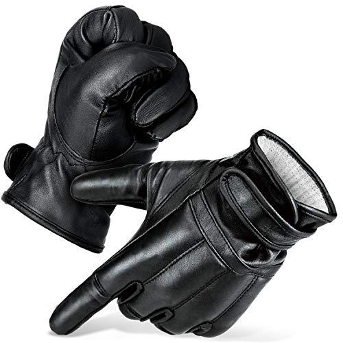 Black Snake® Security Quarzsand Defender Handschuhe \'De5\' | Quarzsandhandschuhe mit Honeywell Spectra® Lvl 5 Schnittschutz | schnittfeste Sandhandschuhe Schwarz L