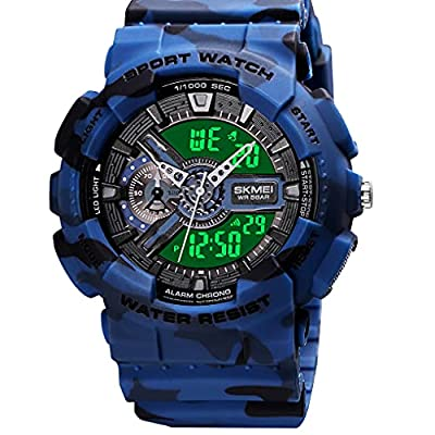 Mens Digital Sports Watch Large Face Sports Out...