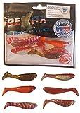 SANDAFishing Juego de 12 peces de goma Relax Kopyto de 7 cm para perca, trucha, cebo ideal para peces depredadores, accesorios de pesca, luciopercas, lucios, pesca, juego de pesca (juego de 2)