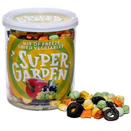 Supergarden Mix Aus Gefriergetrocknetem Gemüse - Gesunder Snack - 100% Rein Und Natürlich - Für Veganer Geeignet - Ohne Zuckerzusatz, Künstliche Zusatzstoffe Und Konservierungsmittel