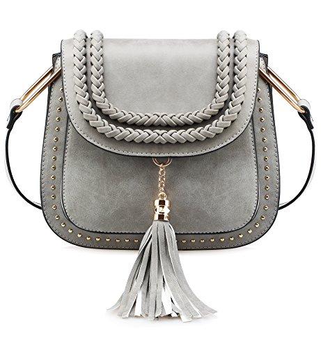 Tom Clovers Crossbody Bags for Women Shoulder Bag Vintage Tassel Saddle Sling Bag Shopping Travel Satchel