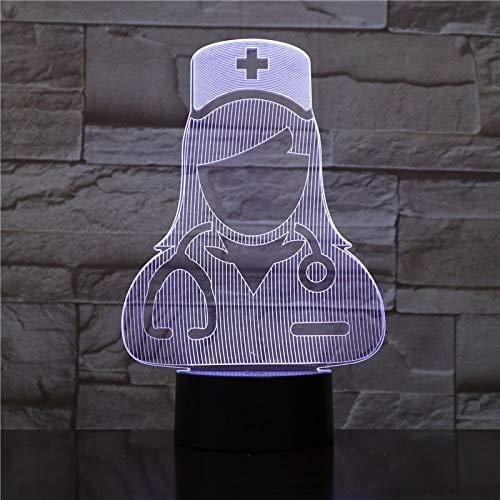 Doktor und Krankenschwester beleuchtet batteriebetriebenen Nachtlichtsichtlichteffektes
