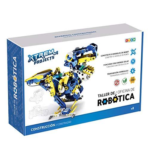 Xtrem Bots - Taller de Robótica Educativa, Juguetes Robotica para Niños 8 Años o Más, Robot Solar, Juegos Educativos, Construccion de Robots, Juguete Educativo 11 en 1.