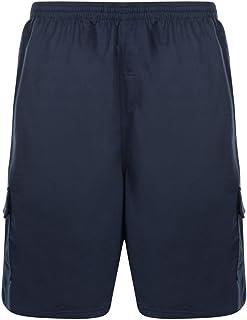 Kam Jersey Cargo Shorts - Blue 2XL 3XL 4XL 5XL 6XL 7XL 8XL