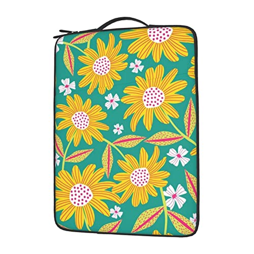 MBNGGAB Fresh Sunflower Flower Laptop Sleeve 13 inch, Laptops Sleeve Case, Water Resistant Portable Computer Carrying Case, Notebook Computer Tablet Bags for Men Women