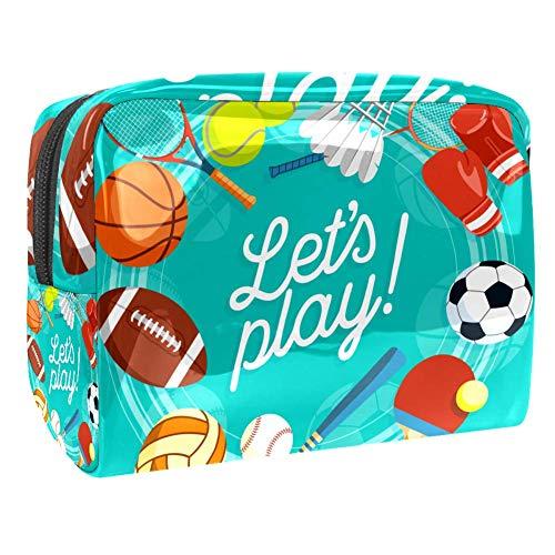 Kinder Reise Kulturtasche Rugby Baseball Schön Kulturbeutel Kosmetiktasche Waschtasche für Kinder Frauen Mädchen Damen 18.5x7.5x13cm