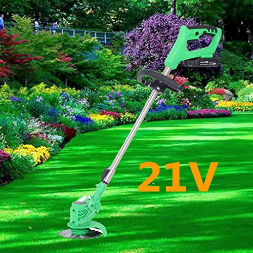 Best Prices! Cordless Grass Trimmer Edger, Cordless String Trimmer, 21V Brush Cutter Lawn Mower Edge...