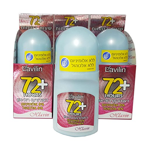 Pack of 3 Lavilin Hlavin Deodorant Roll-On (Red) 72 Hours