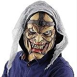PMWLKJ Máscara de payaso de terror de Halloween Fiesta de maquillaje Máscara de payaso aterradora Máscara de látex Máscara de terror Como se muestra Hombres extraños