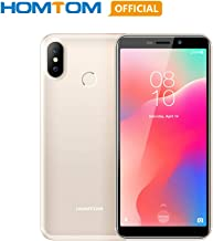 Original HOMTOM C1 Android 8.1 Unlocked Smartphone, 1GB RAM 16GB ROM Quad Core Global 3G Mobile Phone, 3000mAh 5.5 inch 18:9 Full Display 13MP Rear Camera Fingerprint Dual SIM Card Cell Phone- Gold