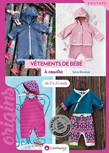 Vêtements de bébé à coudre - De 0 à 12 mois