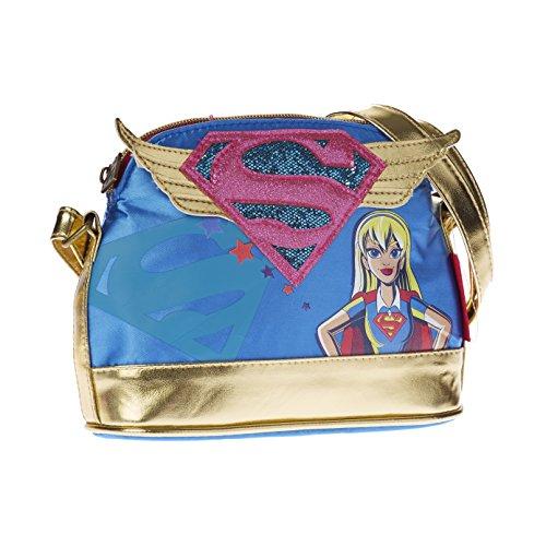KARACTERMANIA DC Super Hero Girls Supergil Bolso Bandolera, 20 cm, Azul